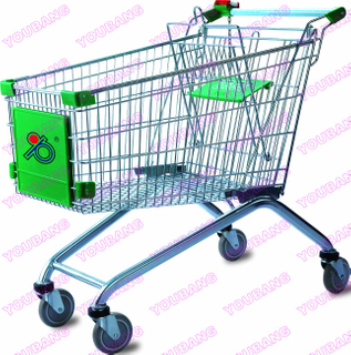 Zinc Plated Supermarket Shopping Trolley
