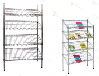 Light duty NSF 4 layer chrome slant wire magazine rack